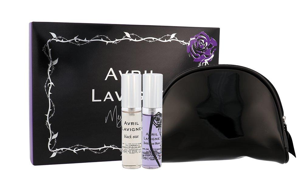 Avril Lavigne Mini Set: Black Star 10 ml + Forbidden Rose 10 ml + kozmetická taška