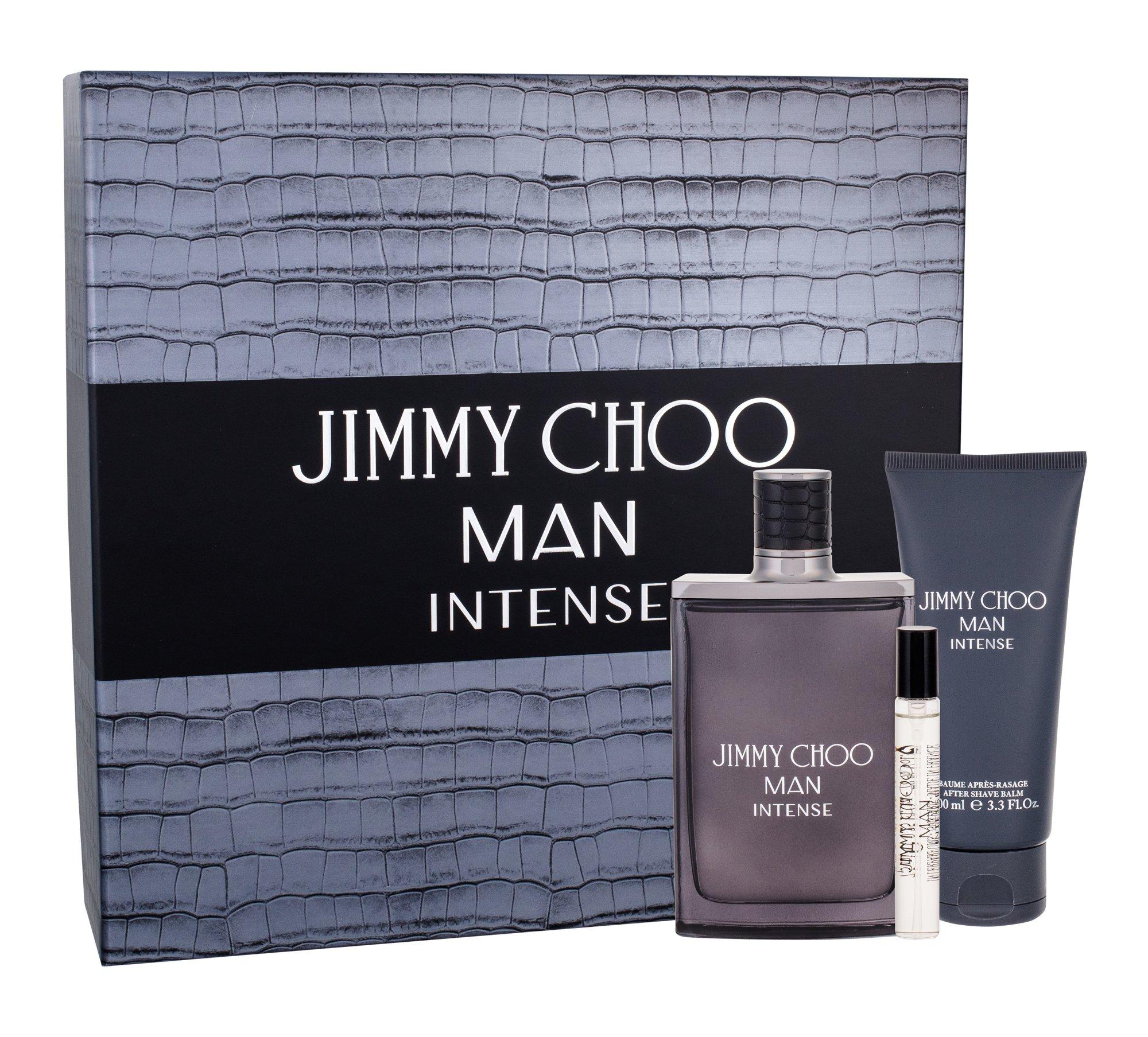 Jimmy Choo Jimmy Choo Man Intense, Toaletní voda 100 ml + Toaletní voda 7,5 ml + Balzám po holení 100 ml