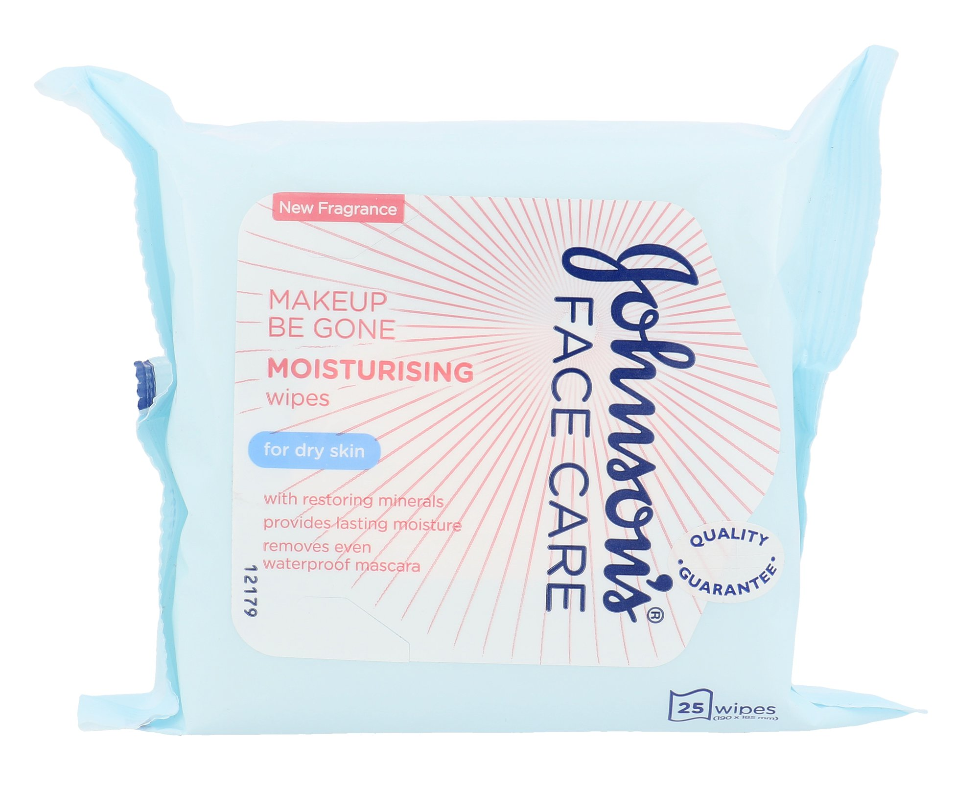Johnson´s Face Care Moisturising, Arctisztító kendő 25ks